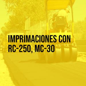 Imprimaciones con RC-250, MC-30Colocación de carpeta asfáltica   Asfaltoperú