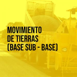 Movimiento de tierras (base sub-base) | Asfaltoperú