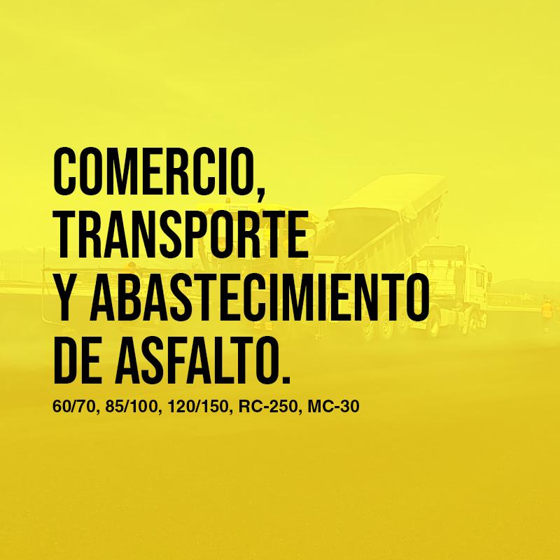 Comercio, transporte y abastecimiento de asfalto 60/70, 85/100, 120/150, RC-250, MC-30; puesto en obra | Asfaltoperú